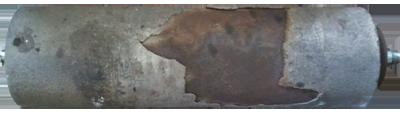 Тормозной барабан до ремонта
